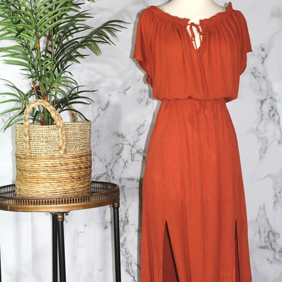 821b6e81f0d H M Dresses   Skirts - H M Burnt Orange Maxi Dress